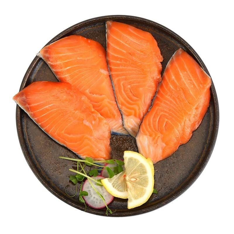美威 冷冻智利原味三文鱼排 240g 4片 分享装 海鲜水产