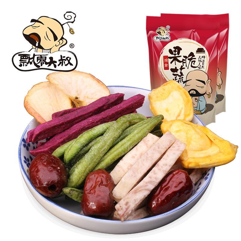 飘零大叔综合果蔬脆108g 果蔬菜干酥脆休闲零食果蔬脆片脱水蔬菜